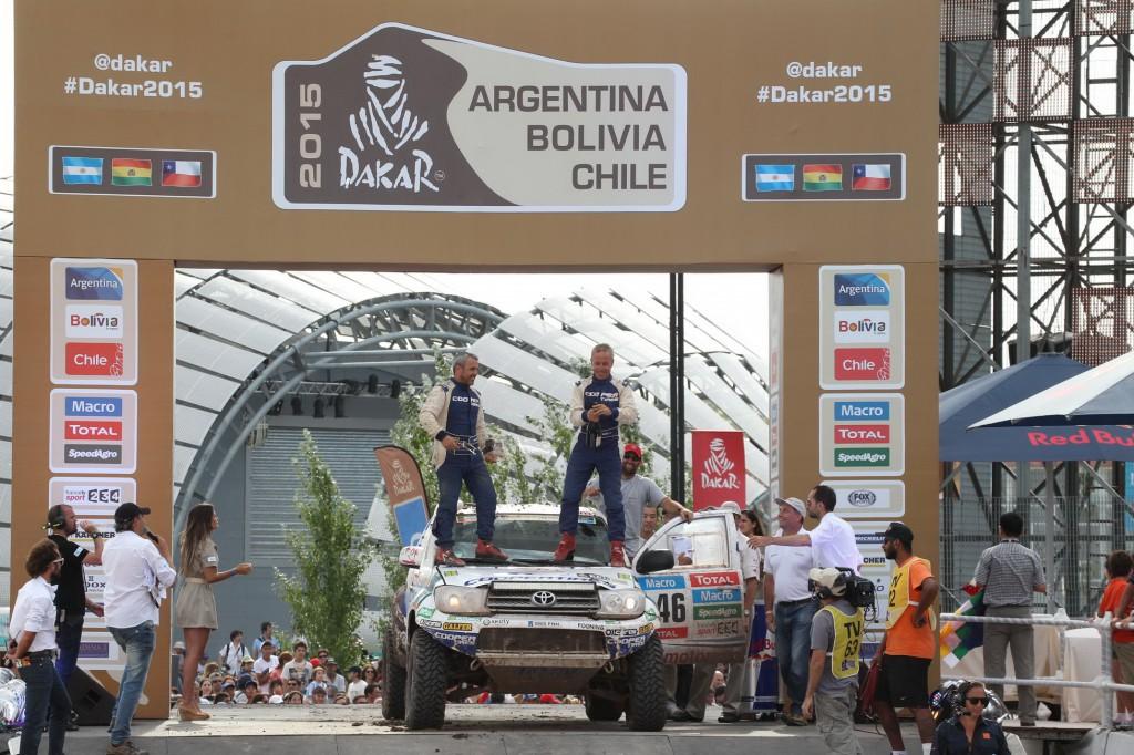 podium Dakar 2015