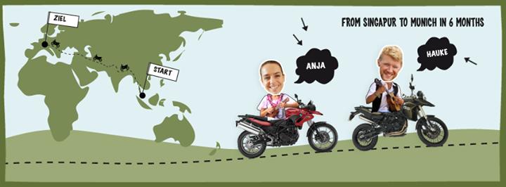 Les motards Anja Meier et Hauke Glässing