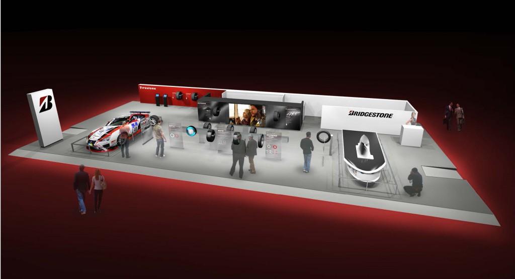 Le stand de Bridgestone au Salon de Genève 2015