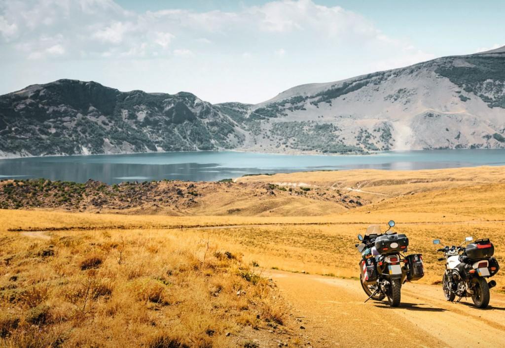 motos de Anja et Hanke. 23000 km en moto.
